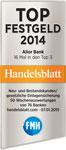 Top Festgeld 2014 laut Handelsblatt