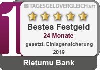 Rietumu Bank  - Testsieger im Festgeld-Test 2019
