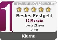 Klarna - Testsieger im Festgeld-Test 2020