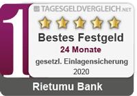 Rietumu Bank  - Testsieger im Festgeld-Test 2020