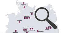 Standortkarte Baugenossenschaften